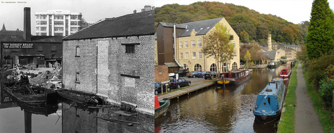 Rochdale Canal Then and Now