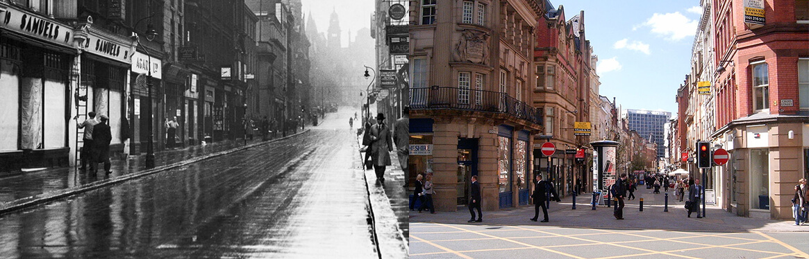 King Street Manchester Then and Now